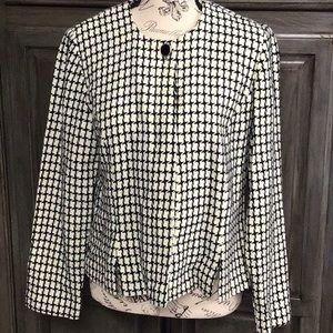 Leslie Fay houndstooth short jacket/ blazer